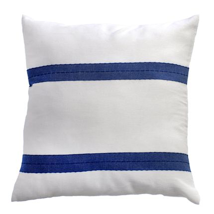 Cushions - Squares cushions 60 x 60cm or 40 x 40cm white and blue|F3 - FOUTA FUTEE