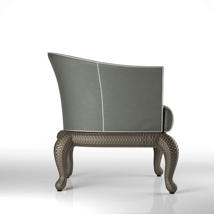 Lawn chairs - Canopo T2 dining armchair - SAMUELE MAZZA OUTDOOR COLLECTION