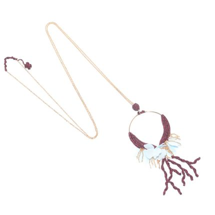 Jewelry - Long necklace ELLIANE, collection Air and Sea - ATELIER GODOLÉ