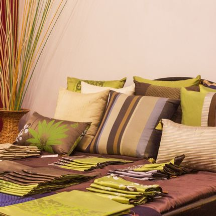 Cushions - Silk Cushion Cover Hôl Lboeuk - ARTISANS ANGKOR