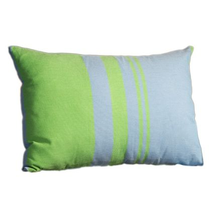 Cushions - Rectangular cushion 35 x 50 cm blue and  green  - FOUTA FUTEE
