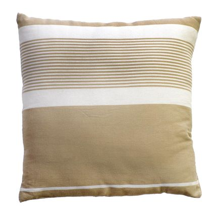 Cushions - Pillow and Square cushion 40 x 40 cm and 60 x 60 cm white and beige CB3 - FOUTA FUTEE