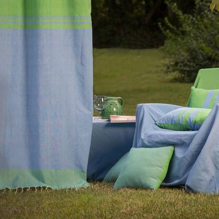 Cushions - Rectangular cushion 35 x 50 cm blue and  green  - FOUTA FUTEE