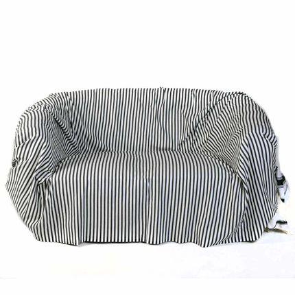 Throw blankets - Rectangular throw 2 x 3 m White, navy blue and blue M2 - FOUTA FUTEE
