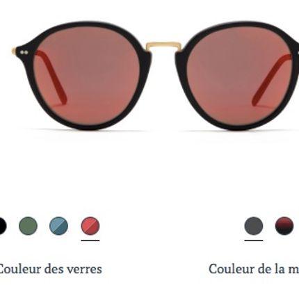 Glasses - Maui Matt Black Orange Mirrored  - KAPTEN & SON