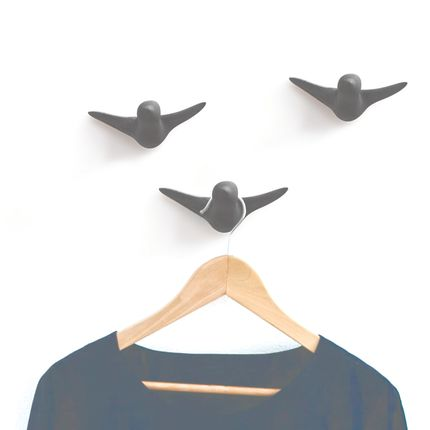 Wall decoration - Bird Wall Hook concrete - THOMAS POGANITSCH DESIGN