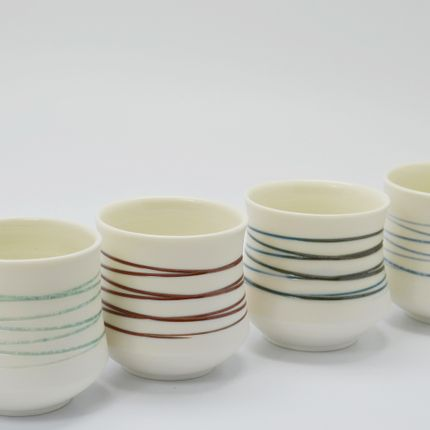 Céramique - Tasses à Café Spirales - OZECLORE