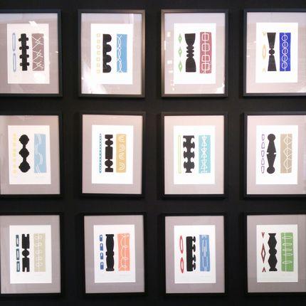 Tableaux - gravures 30x40 sans titre n°1 à n°12 - FOUCHER-POIGNANT