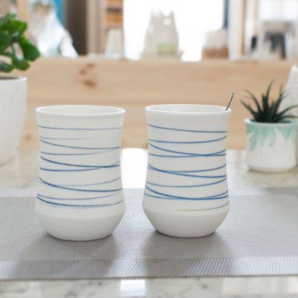 Ceramic - Spirales tumblers - OZECLORE