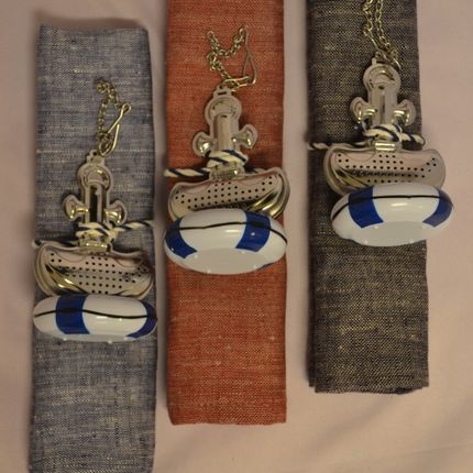 Kitchen utensils - Denim napkins with anchor tea infuser - VALERIA PRODUKTEN