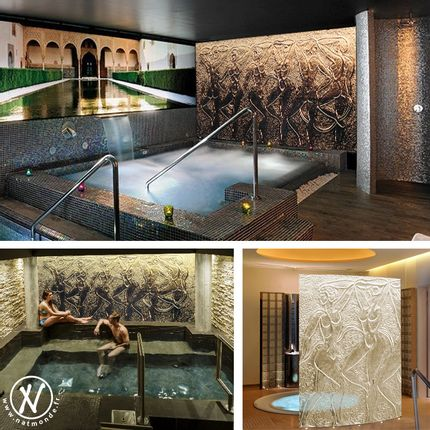 Wall decoration - Kiln formed glass wall panels for showers and spas - NATACHA MONDON & ERIC PIERRE