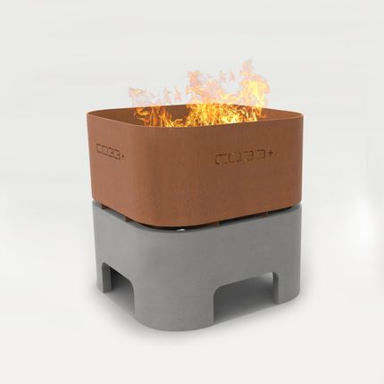 Barbecues - OPUS IGNIS Fire Bowl with grill - CO33 Exklusive Betonmöbel