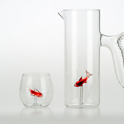 Carafes - Little Fish Jug and Glasses - CASARIALTO MILANO