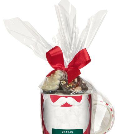 Chocolate - Christmas Mugs filled with chocolate sweets - MONBANA - OKAKAO
