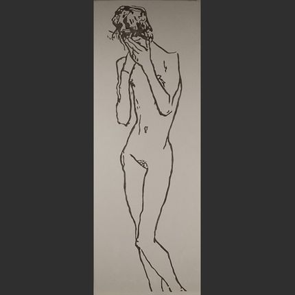 Fixing accessories - Plaque inspirée par une femme pudique de Egon Schiele - MARCHAND DE SABLES