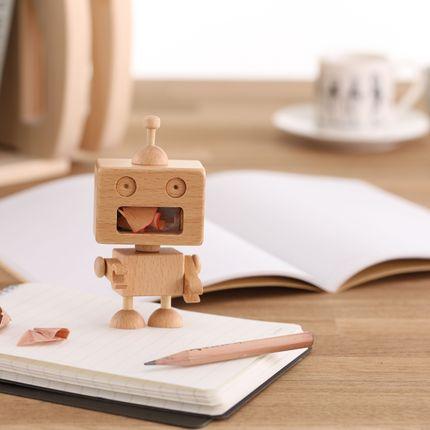 Gift design - Robot Pencil Sharpener - CARPENTER HANDMADE