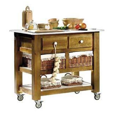 Robinet de cuisine - Table de cuisine avec roues mesure 100 x 0.70 cm - ART GAYDEL S.L.