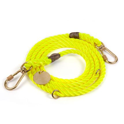 Accessoires animaux - Neon yellow rope dog leash, Adjustable  - FOUND MY ANIMAL