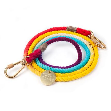 Accessoires animaux - Rainbow ombre cotton rope dog leash, Adjustable   - FOUND MY ANIMAL
