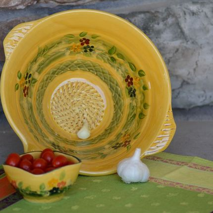 Platter, bowls - salad bowl garlic scrathing dish - SOULEO È PROVENCE