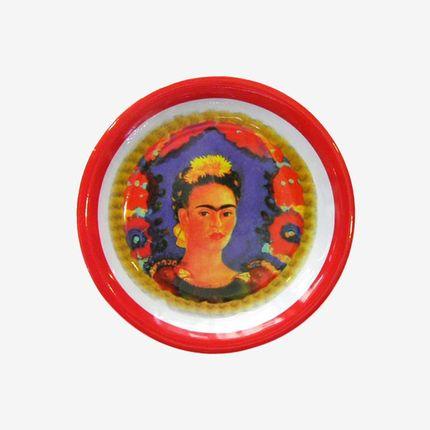 Assiettes au quotidien - Assiette effigie Frida Kahlo - TIENDA ESQUIPULAS