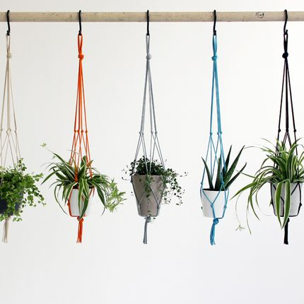 Décoration florale - Knotted interiors Plant Pot Hangers - ELEANOR BOLTON STUDIO