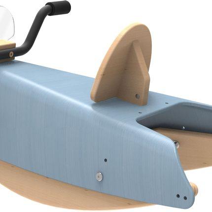 Jouets - Bascule Moto évolutive en bois  (2 jouets en 1) - CHOU DU VOLANT