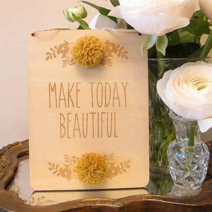 Wall decoration - Wooden message panels - ANESIDORA