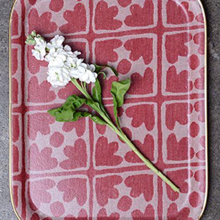Platter, bowls - Bloom Tray in Radish - TORI MURPHY