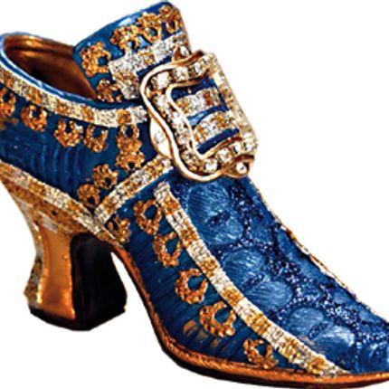 Sculpture - Chaussure historique 1675 bleue - AGB PARIS
