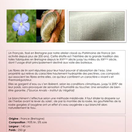 Upholstery fabrics - Pure Linen Fabrics Whitened on a Meadow - FORWEAVERS