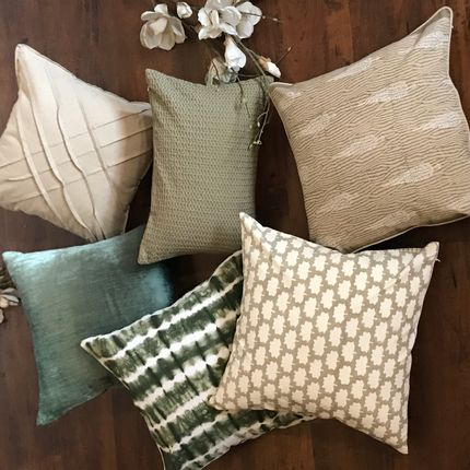 Cushions - Forest Crimp Cushion Cover - THE INDIAN PICK