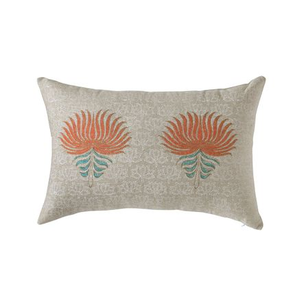 Cushions - Royal Lotus Opulence Cushion Cover - THE INDIAN PICK