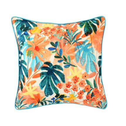 Cushions - The Pastel Palms Cushion Cover - THE INDIAN PICK