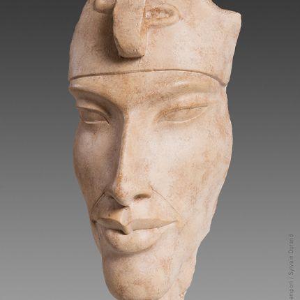 Sculpture - Tête brisée d'Akhenaton - Atelier MEMENTO TEMPORI