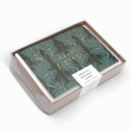 Stationery / Card shop / Writing - Gold Foiled Botanical Cards - TUPPENCE COLLECTIVE
