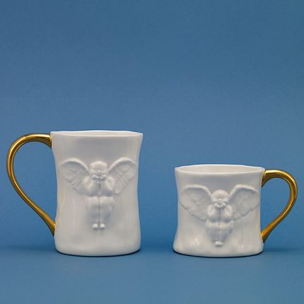 Mugs - Angel Couple Mug - X+Q ART
