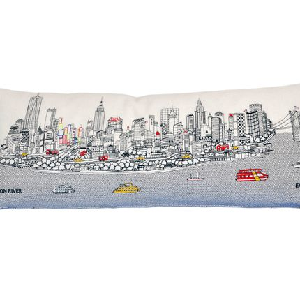 Chambres d'hotels - NEW YORK SKYLINE CUSHION - BEYOND CUSHIONS CORPORATION