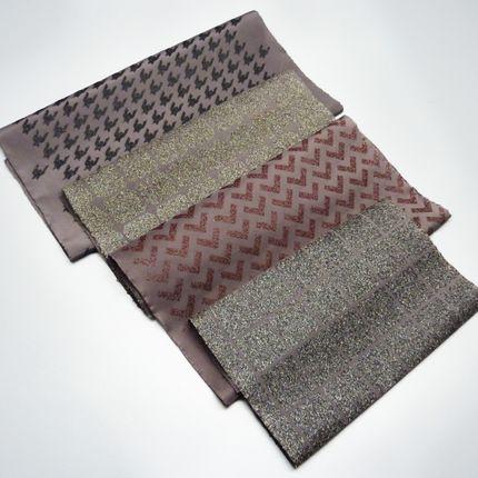 Foulards / écharpes - Protocole 1 : Sérigraphie textile de poudre de cheveux - ANTONIN MONGIN