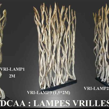 Unique pieces - WHITE VINES (with or without lamp   - DCAA