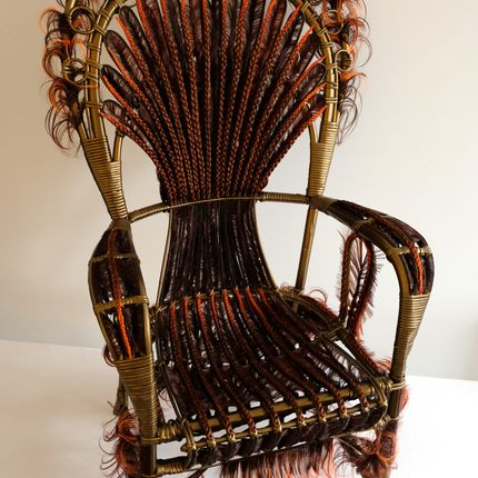 Decorative objects - LEAR Armchair - MICKI CHOMICKI HAIR BRUT