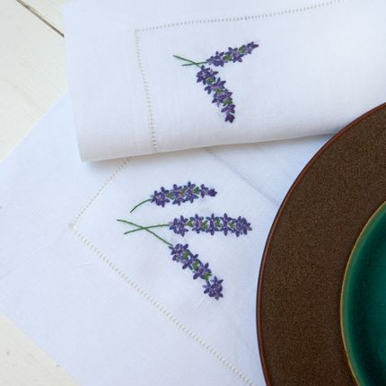 Sets de table - Lavanda. Set petit-déjeuner pour 2. - THE NAPKING  BY BELLAVIA HOME