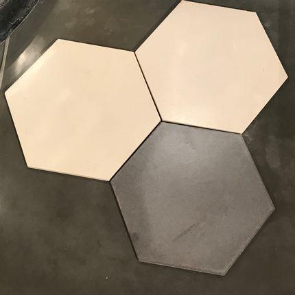Cement tiles - Sermideco tiles with hexagone shape - ROUVIERE COLLECTION