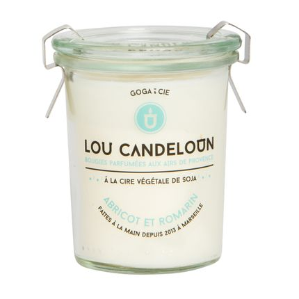 Candles - Retour du Marché Scented Candle, Apricot and Rosemary - LOU CANDELOUN
