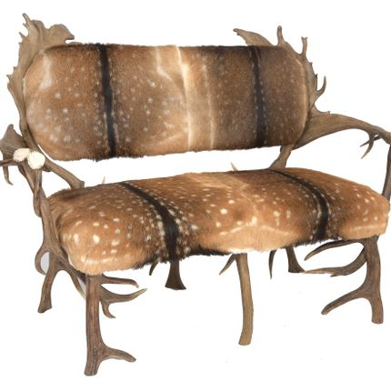 Settees - FALLOW ANTLER SOFA - CLOCK HOUSE FURNITURE