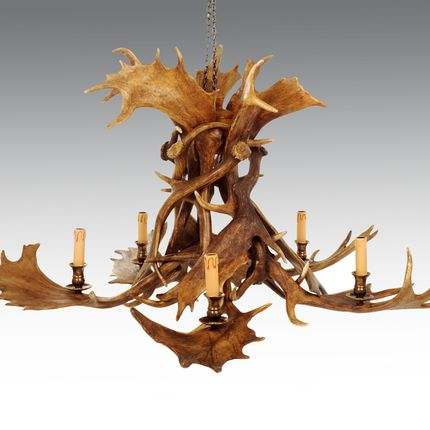 Suspensions - ANTLER CHANDELIER - CLOCK HOUSE FURNITURE