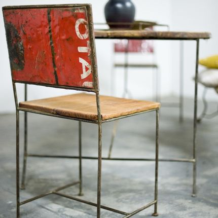Design objects - Iron and wood chair - MOOGOO CREATIVE AFRICA