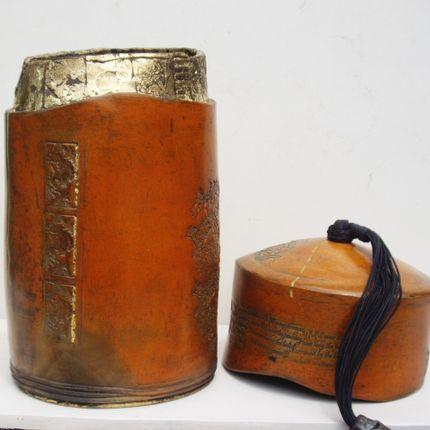 Pièces uniques - boîte à thé - NADINE LEBAS CERAMIQUE