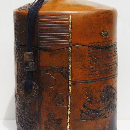 Casket / box - boîte à thé céramique - NADINE LEBAS CERAMIQUE