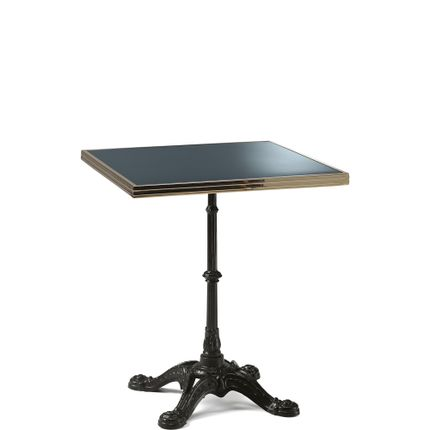 Lawn tables - ARDAMEZ • TRADITION Enamel bistro table / Anthracite Grey - ARDAMEZ